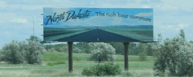 North Dakota rush hour commute billboard