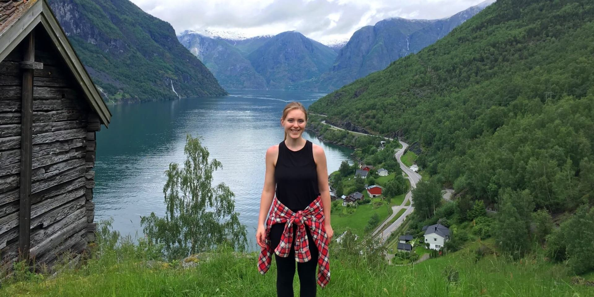 Meghan of Gone Rogue Travel blog at Otternes Farm in Norway