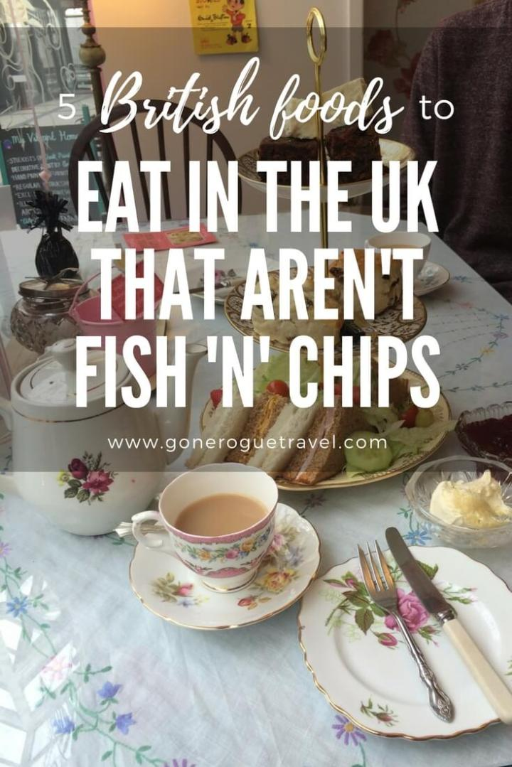 british foods to eat that aren't fish and chips over afternoon tea picture for pinterest