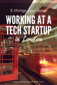 London phonebooth, words about working at a tech startup and what you learn