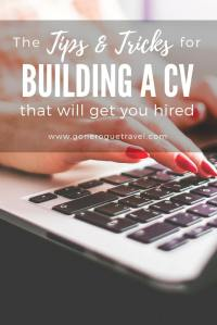 woman building cv using tips to get hired
