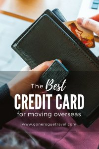 best overseas credit card in wallet pinterest image