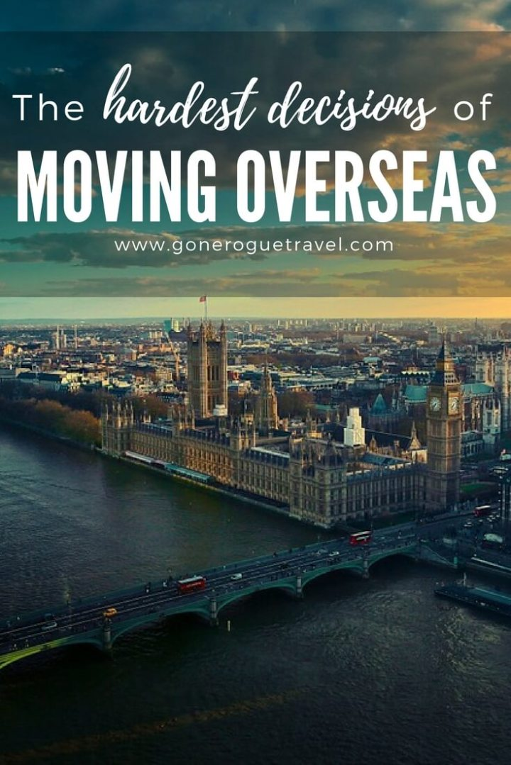family decisions for moving overseas, london cityscape pinterest image
