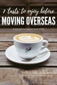 cup of coffee to enjoy before moving overseas pinterest image