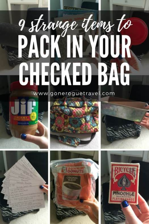 9 images of strange items to pack in checked luggage for moving overseas pinterest image