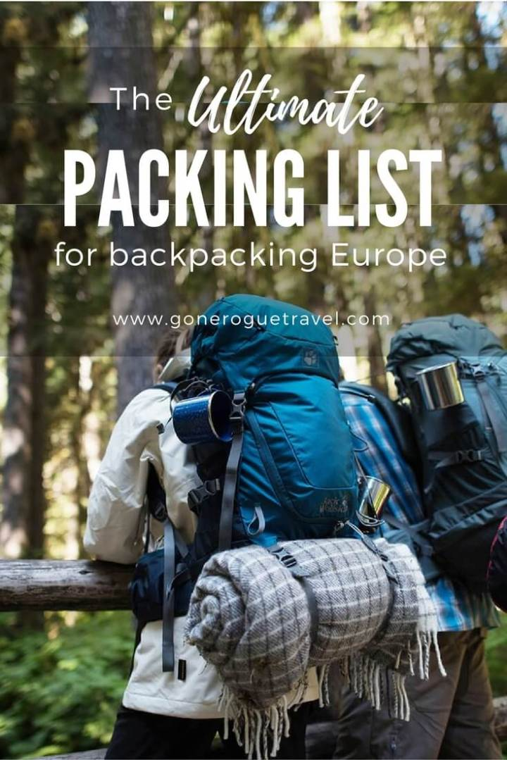two backpackers in europe who used packing list