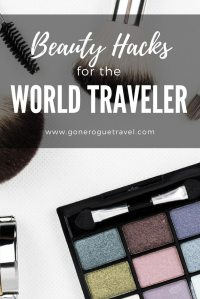 beauty products for solo female and world travellers