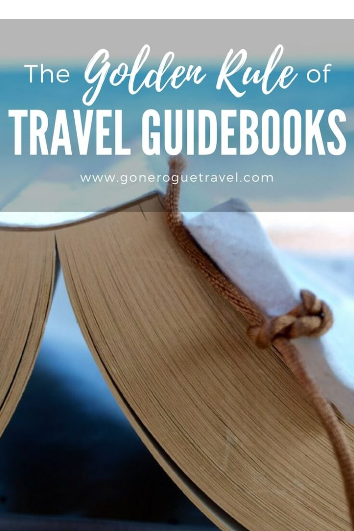 golden rule of travel guidebooks and book Pinterest image