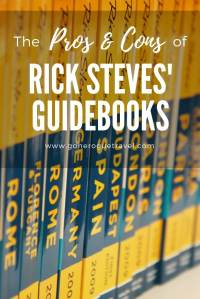 rick steves guidebooks and the pros and cons of them