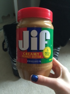 jar of peanut butter for life in England