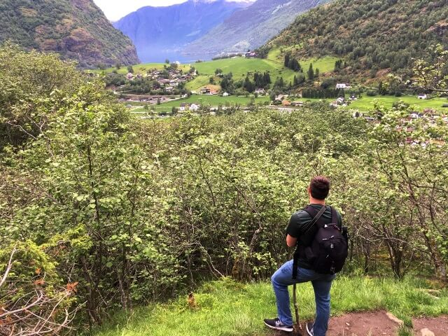 hiking guy in Norway