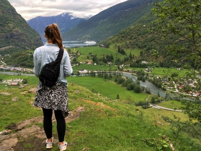 hiking girl in Norway