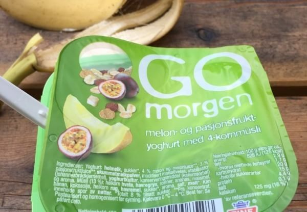 yogurt for meal in Norway while travelling