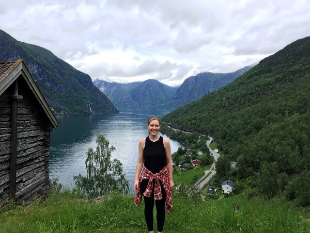 Meghan at Otternes Farm in Flam Norway