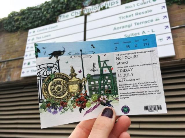 Wimbledon ticket for court one