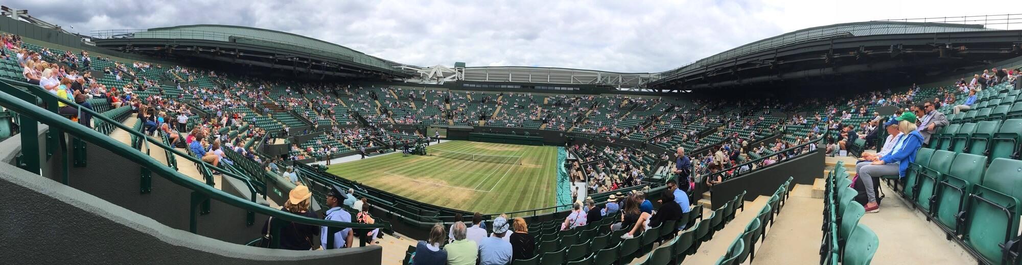 court 1 at Wimbledon day