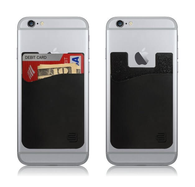 Adhesive phone card carrier for travelling solo