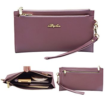 travel clutch purse product with wrist strap