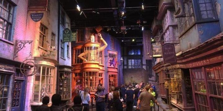 Diagon Alley set at Harry Potter studio