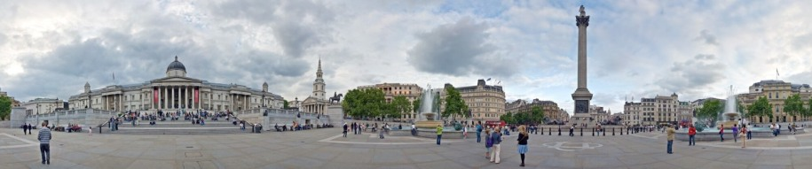 Panoramic view of Trafalgar Square