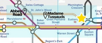 Northern London sights tube map