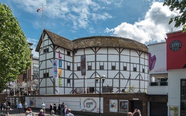 Shakespeare's Globe Theatre exterior on London South Bank