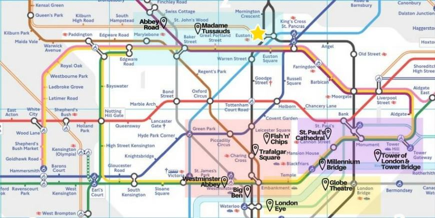 London Tube Map with two-day plan