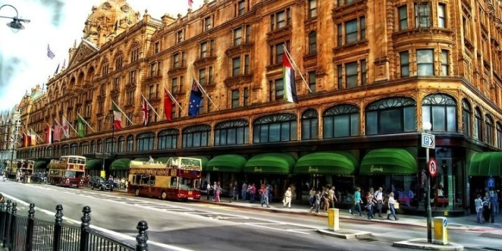 Visit Harrods department store in London