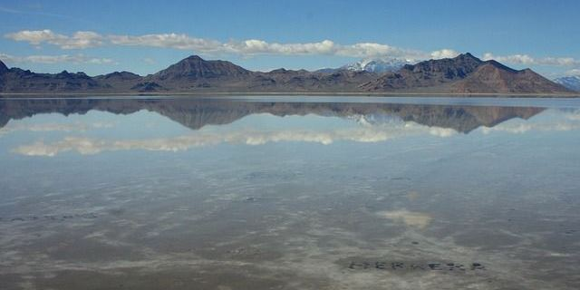 Bonneville Utah Salt Flats during road trip