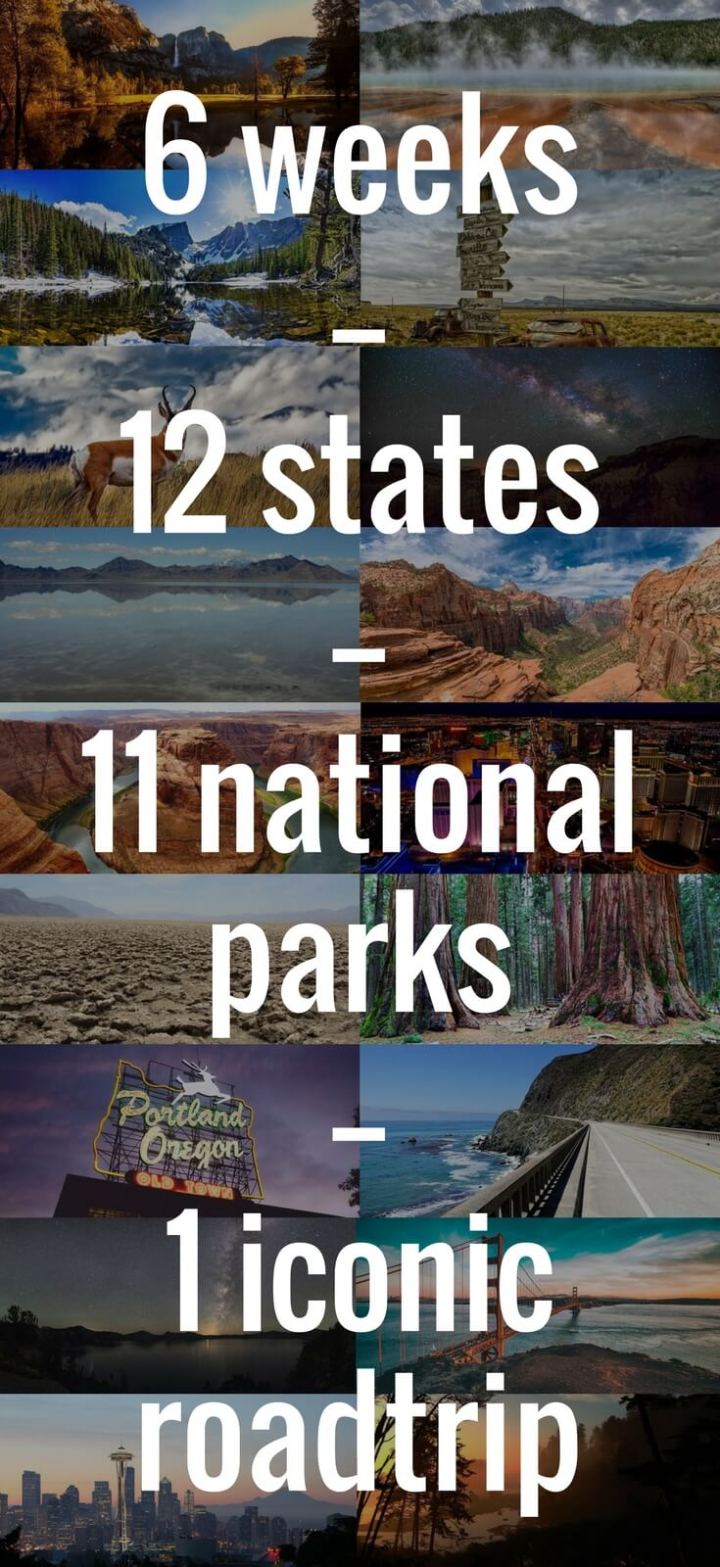 National park roadtrip Pinterest image