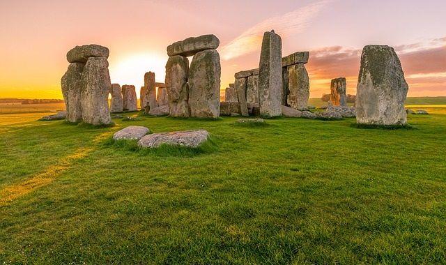 Stonehenge in England at sunrise