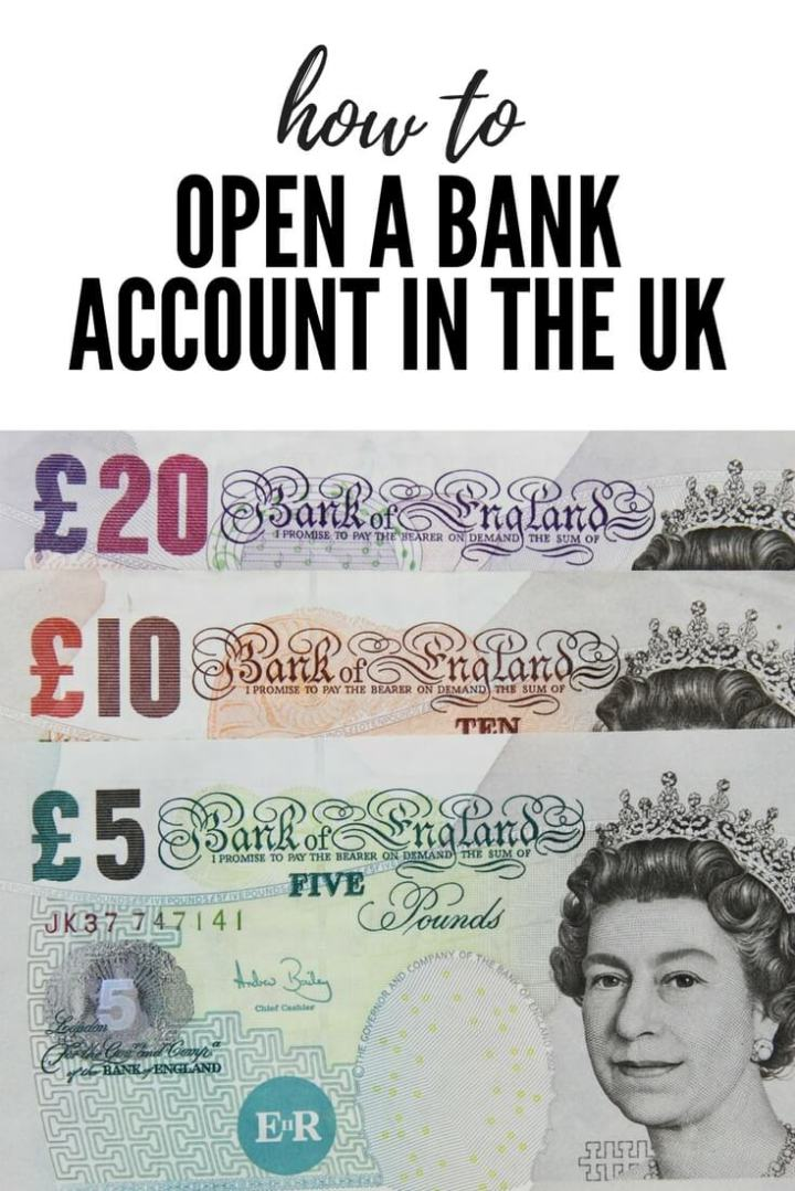 How to open a bank account in the UK Pinterest image