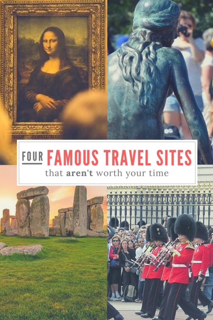 Pinterest image of four famous travel sites to miss
