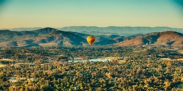 Hot Air balloon ride during road trip across New Mexico